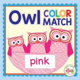 Owl Color Match & Size Sorting Activity