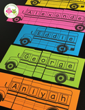 Editable Name Practice Puzzles - School Bus Puzzles