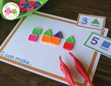 Count & Create Shapes Maker Mat Activities