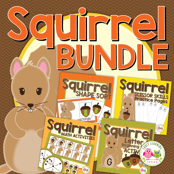 Squirrel & Acorn Activity Bundle