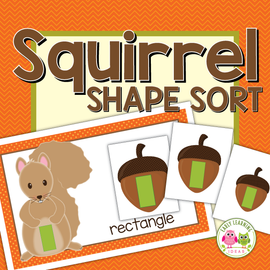 Squirrel and Acorn Shape Sort