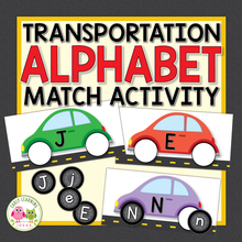 Load image into Gallery viewer, Car Alphabet Matching Activity