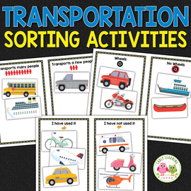 Transportation Sorting Activities