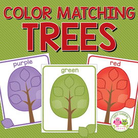 Tree Color Sorting Activities
