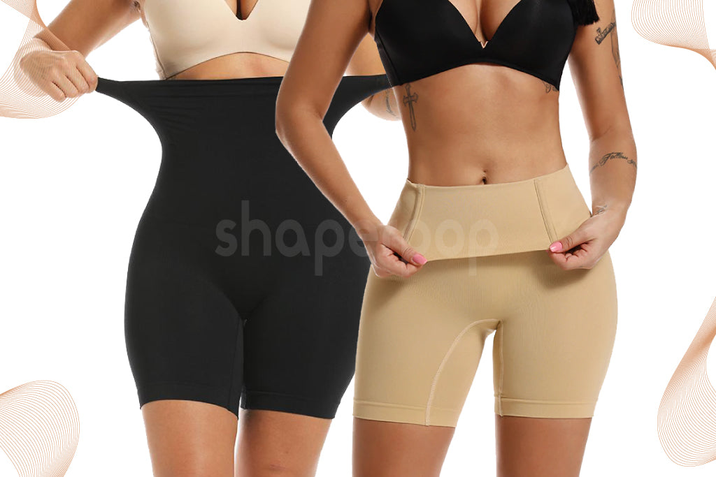 Pack-de-2-shorty-amincissant-beige-et-noir-Shaperpop™