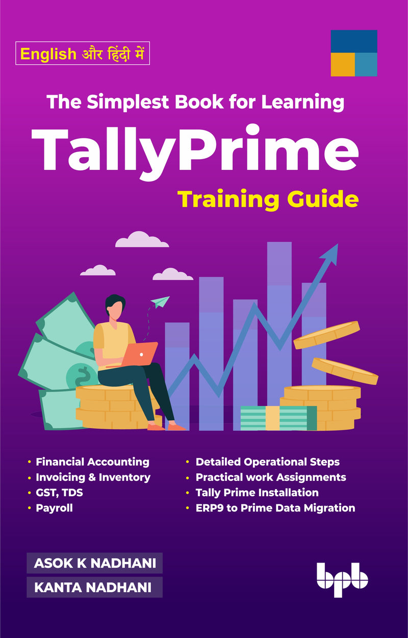 The Simplest Book for Learning TallyPrime (English और हिंदी  में)