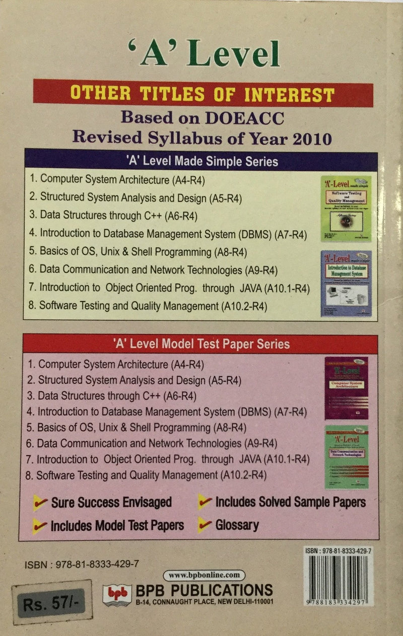 A' Level, Structured System Analysis and Design best books in india