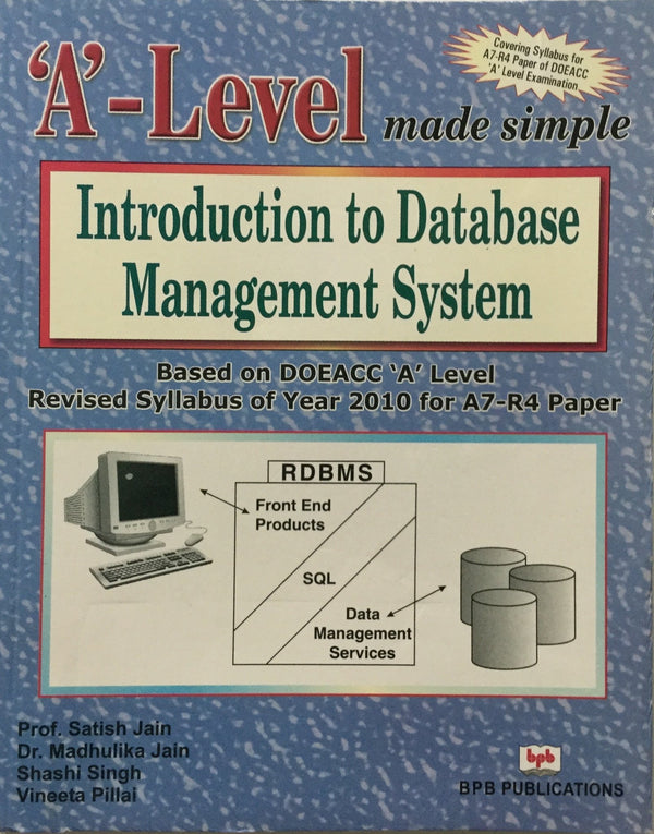 'A' Level Introduction to Database Management System (A7-R4)