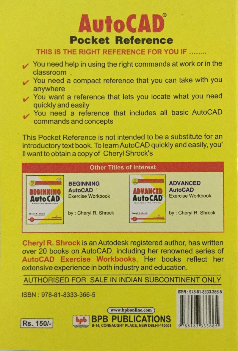 Autocad Pocket Reference online books store