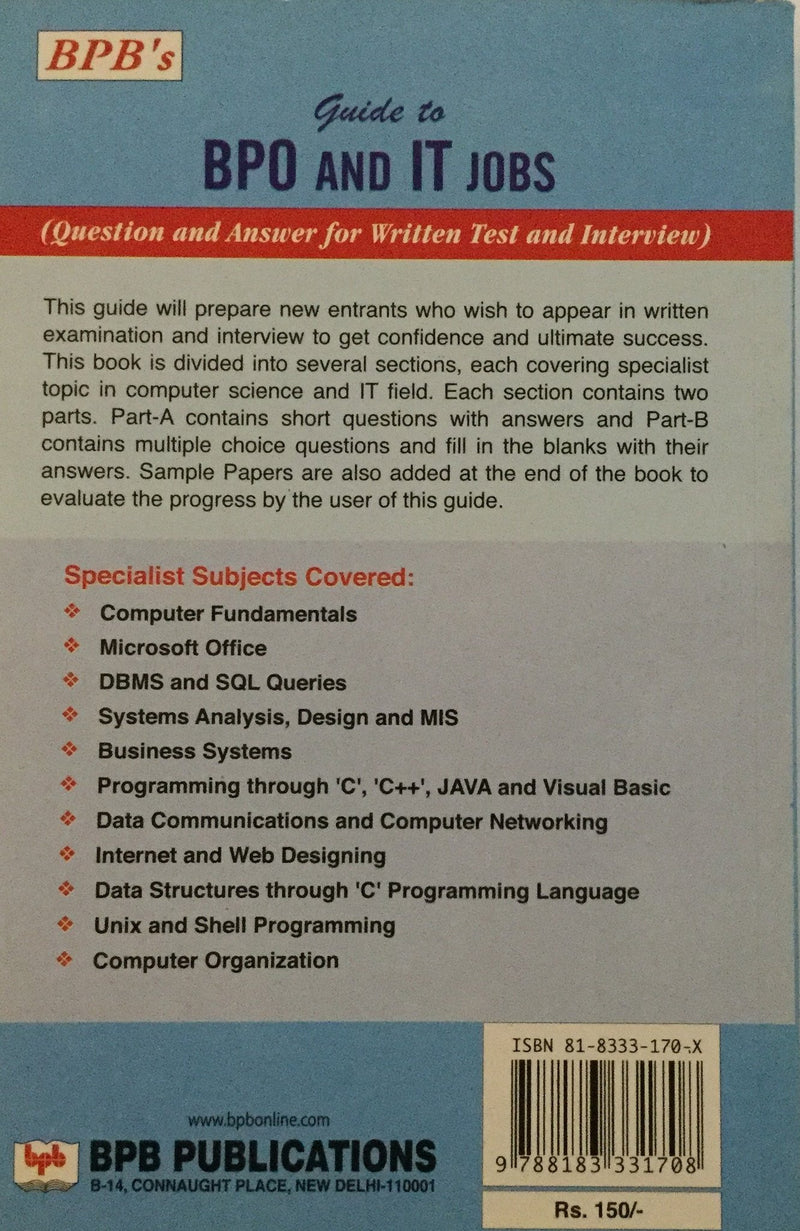 Guide to BPO and IT Jobs Question book