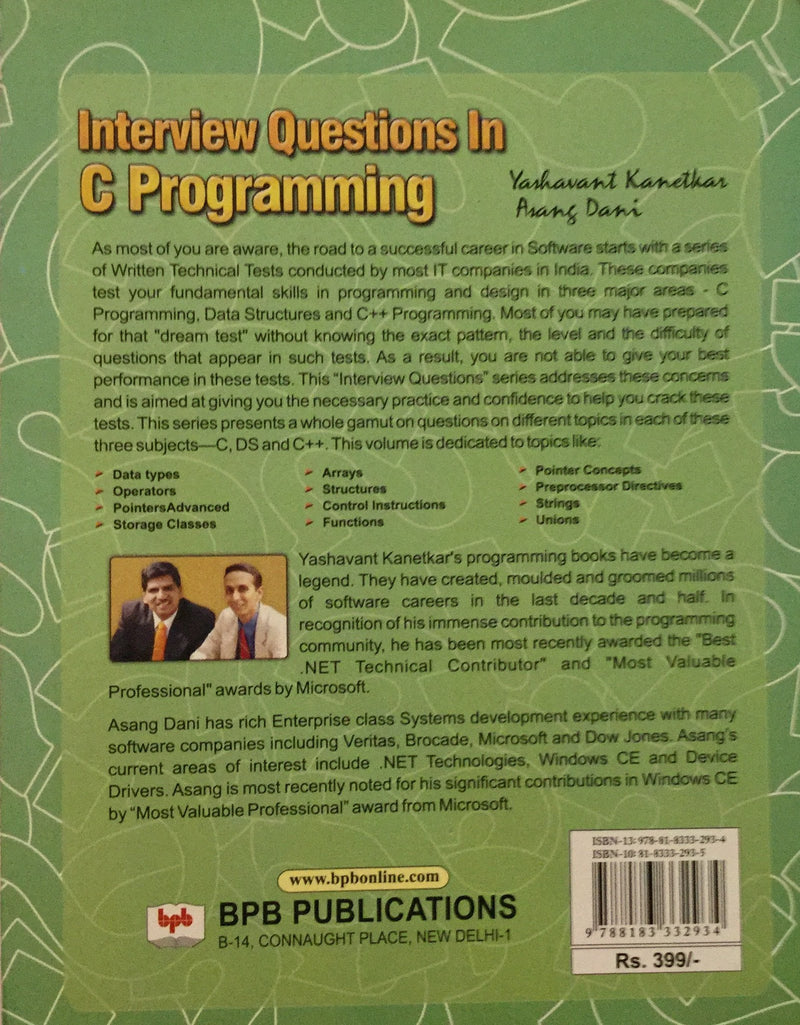 Interview Questions In C Programming books