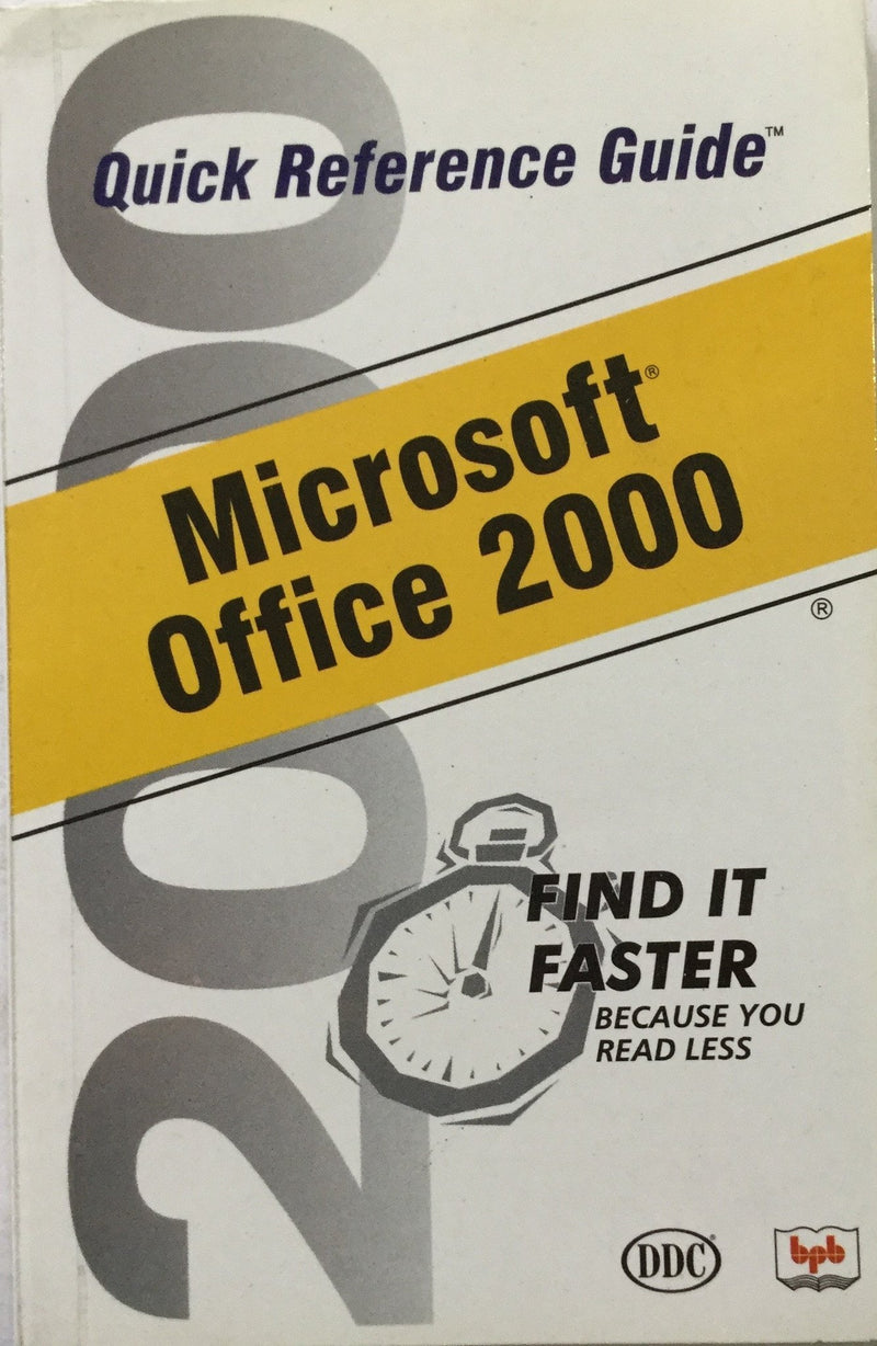 Quick Reference Guide Microsoft Office 2000
