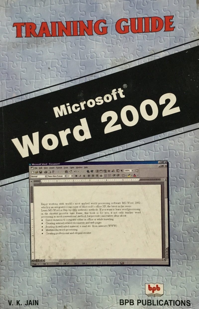 MS Word 2002 - Training Guide