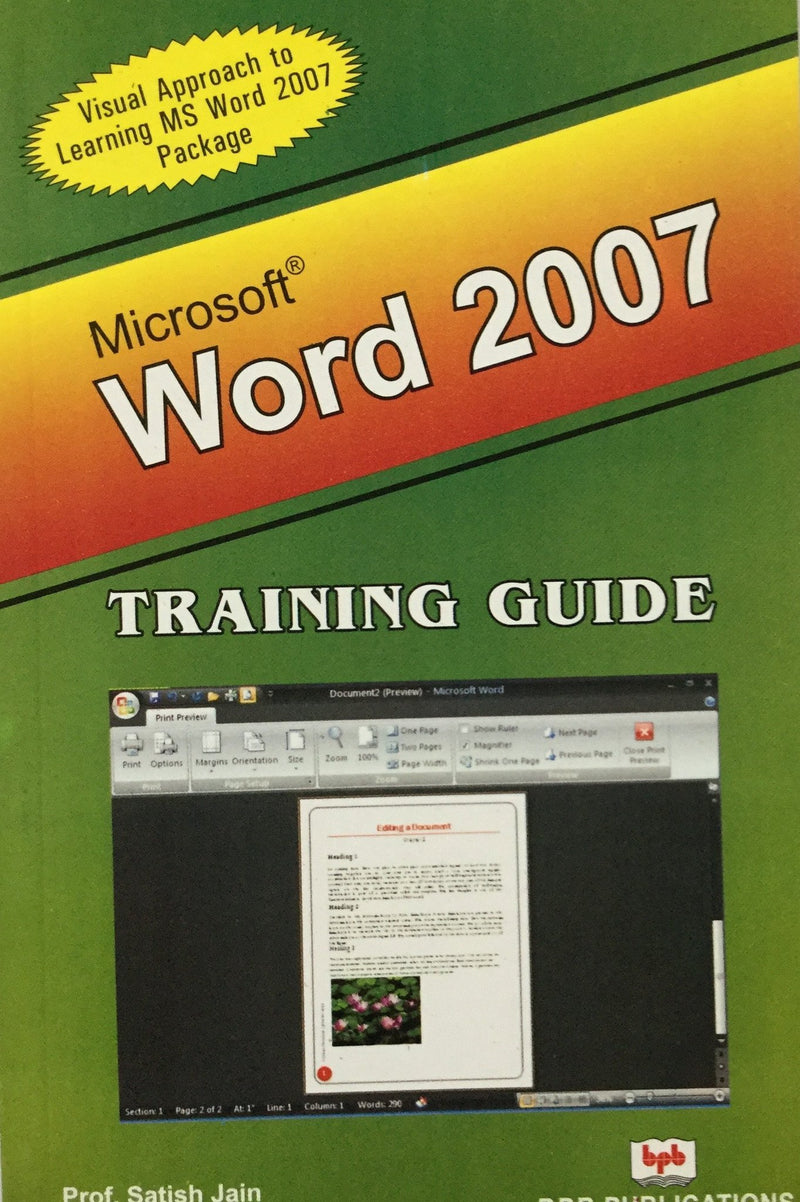 Microsoft Word 2007 Training Guide books