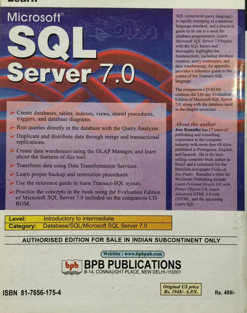Learn Microsoft SQL Server books