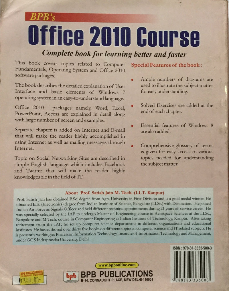 office 2010 course books