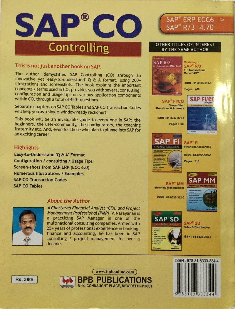 SAP CO Controlling books