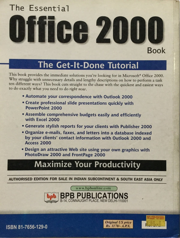 The Essential office 2000