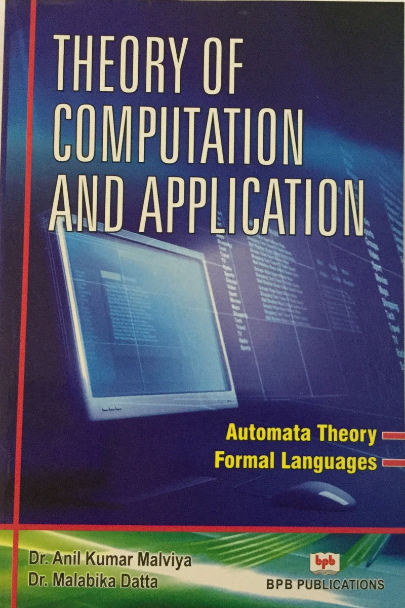 Theory Of Computation And Application books
