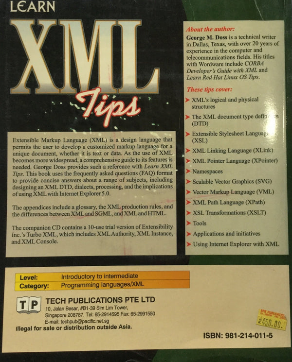 Learn XML Tips books