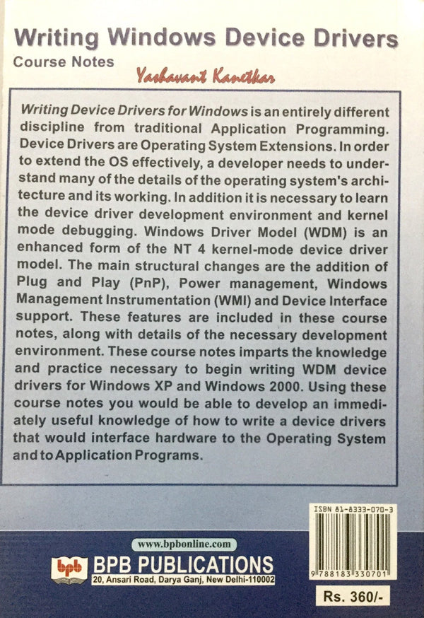 Writing Windows Device Drivers online books