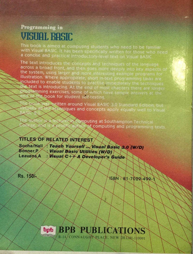 Programming in Visual Basic books