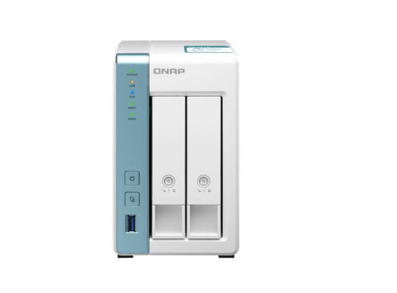 QNAP NAS TS-231K 2 Bay NAS Alpine AL-214 4-Core 1.7GHz 1GB DDR3 512MB 2x3.5' SATA Hot Swap 2xGbE 3xUSB 3.2 Tower LED Windows/MAC