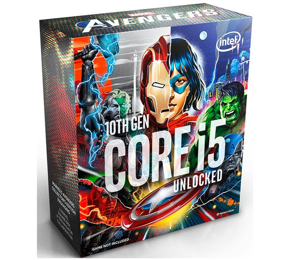 New Intel Core i5-10600K Avengers CPU 4.1GHz (4.8GHz Turbo) LGA1200 10th Gen 6-Cores 12-Threads 12MB 95W UHD Graphic 630 Retail Box 3yrs Comet Lake