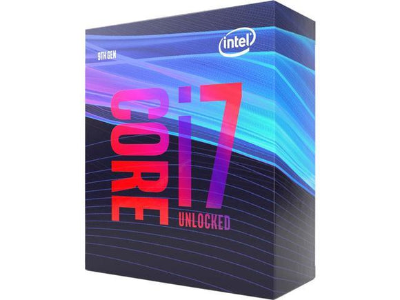 Intel Core i7-9700K 3.6GHz (4.9GHz Turbo) LGA1151 9th Gen 8-Cores 8-Threads 12MB 8GT/s 95W UHD Graphics 630 Retail Box 3yrs ~BX80684I79700KF