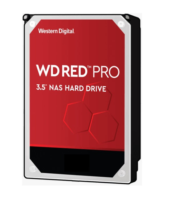 Western Digital WD Red Pro 10TB 3.5' NAS HDD SATA3 7200RPM 256MB Cache 24x7 NASware 3.0 CMR Tech 5yrs wty