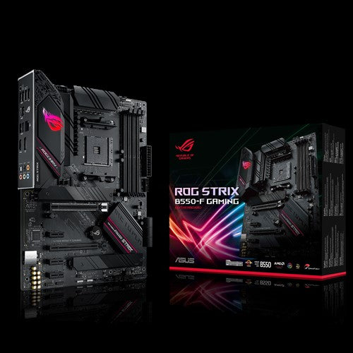 ASUS AMD B550 ROG STRIX B550-F GAMING (Ryzen AM4) ATX MB, Dual M.2, PCIe 4.0, 2.5Gb Ethernet, DP/HDMI2.1, SATA 6Gbps, USB 3.2 Gen 2 Type