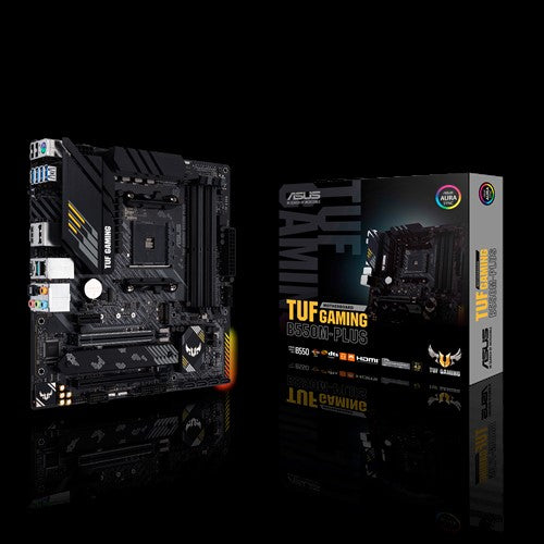 ASUS AMD B550 TUF GAMING B550M-PLUS (Ryzen AM4) mATX Gaming MB, PCIe 4.0, Dual M.2, 10 DrMOS Power Stages, 2.5Gb LAN, HDMI, DP