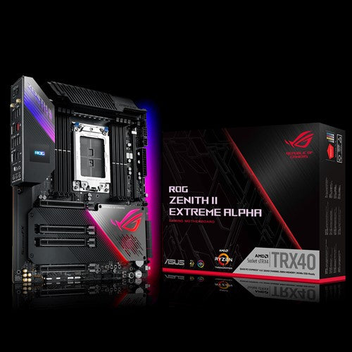 ASUS ROG ZENITH II EXTREME ALPHA AMD TRX40 E-ATX Motherboard sTRX4, 3rd Gen Ryzen Threadripper,16 Power Stages, PCIe 4.0, 10G LAN  (WIFI6)