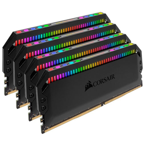 Corsair Dominator Platinum RGB 64GB (4x16GB) DDR4 3000MHz CL15 DIMM Unbuffered 15-17-17-35 XMP 2.0 Black Heatspreaders 1.35V Desktop PC Gaming Memory