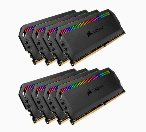 Corsair Dominator Platinum RGB 128GB (8x16GB) DDR4 3800MHz C19 XMP 2.0 Black Headspreader Desktop Gaming Memory