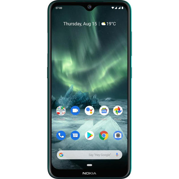 Nokia 7.2 Unlocked Smartphone 128GB Green - 6.3' Screen, Tri Camera, 4GB RAM, 128GB Memory exp up to 512GB, Android 9 Pie, Octa Core Processor