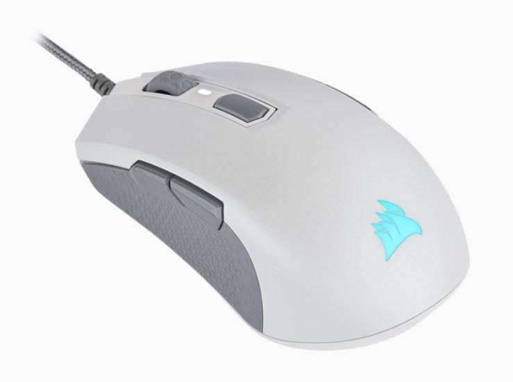 Corsair M55 RGB PRO White Ambidextrous Multi-Grip Gaming Mouse, 200-12,400 DPI, ICUE Software. 2 Years Warranty (LS)