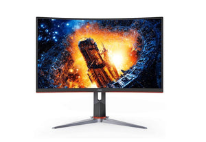 AOC 27' Curved 1ms 165Hz Full HD, FreeSync, HDR, Ultra Narrow Border  Gaming Monitor w/HAS - DP/HDMI, VESA100mm, Low Blue Mode Flicker Free