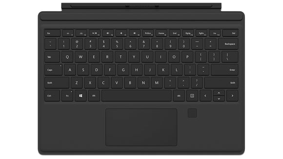 Microsoft Surface ProType Cover  - with Fingerprint Reader - Black(Commercial Model