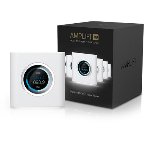 Ubiquiti AmpliFi High Density HD Home Wi-Fi Router - 3x3MIMO Max Coverage 930 sqm