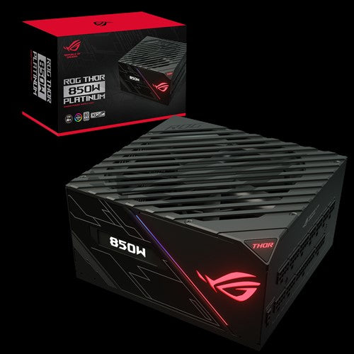 ASUS ROG-THOR-850P 850w PLATINUM Power Supply With Aura Sync / OLED