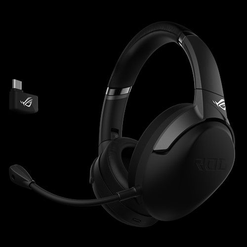 ASUS ROG STRIX GO 2.4 PC/PS4/Switch Wireless Gaming Headset, USB-C 2.4G, 40mm Drivers, AI-powered Noise-cancelling, Up To 25 Hours Battery Life, Folda