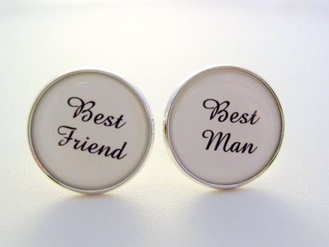 Wedding Gift Best Man Best Friend Cufflinks