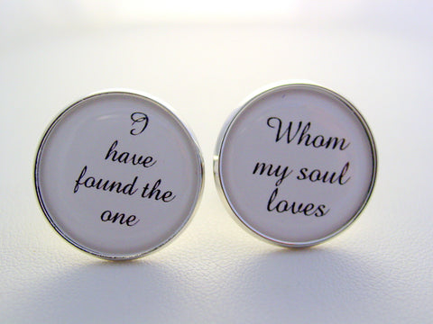 Wedding Anniversary Gift To Groom From Bride I Have Found The One I Love Cufflinks