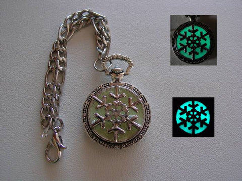 Glow In The Dark Frozen Blue Ice Snowflake Charm Bracelet ~ Glowing Charm Bracelet Bright Aqua Glow