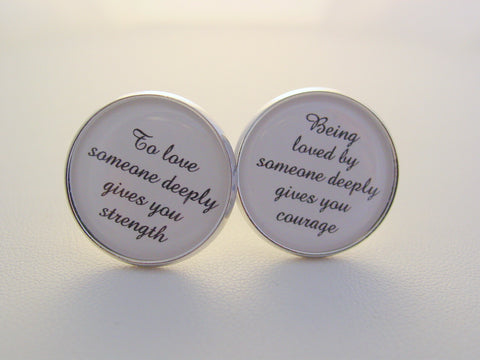 Wedding Anniversary Gift To Groom Being Loved By Someone Deeply Cufflinks