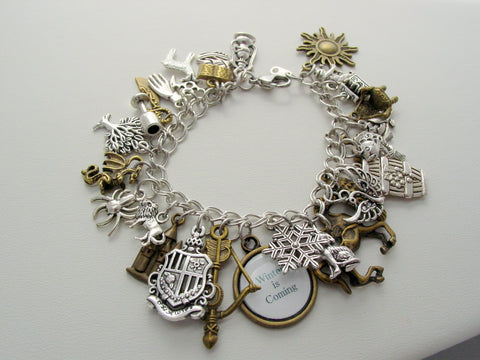 Game Of Thrones Charm Bracelet 28 Charms