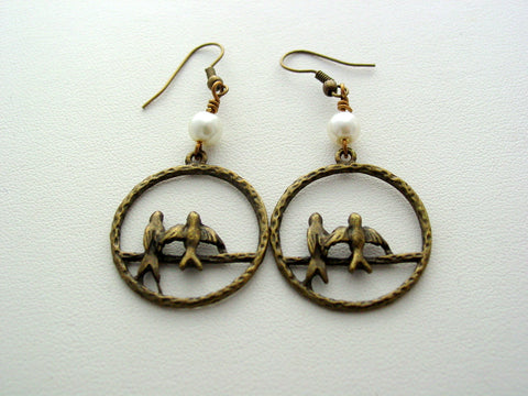Hunger Games Mockingjay Open Antique Bronze Earrings Last One!