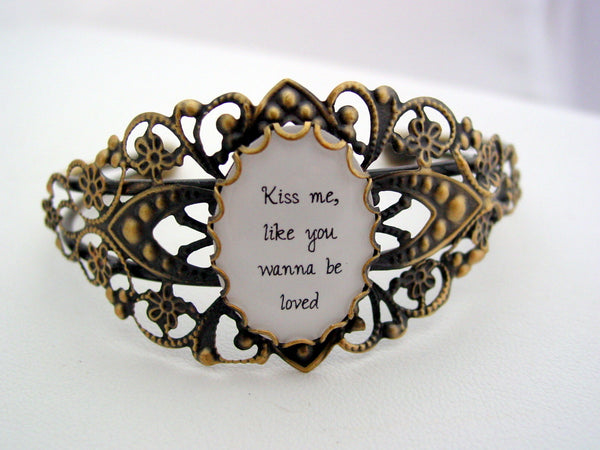 Ed Sheeran Cuff Bracelet Kiss Me Like You Wanna Be Loved Last one!