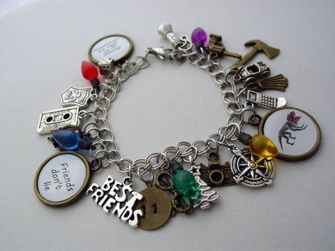 Stranger Things Charm Bracelet 25 Charms With Favorite Quotes